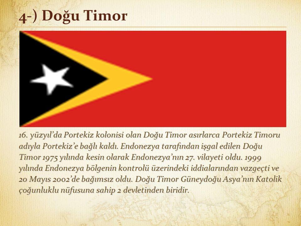 4-) Doğu Timor