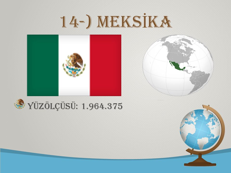 14-) mEKSİKA Yüzölçüsü: 1.964.375