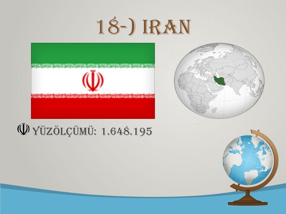 18-) iran yüzölçümü: 1.648.195