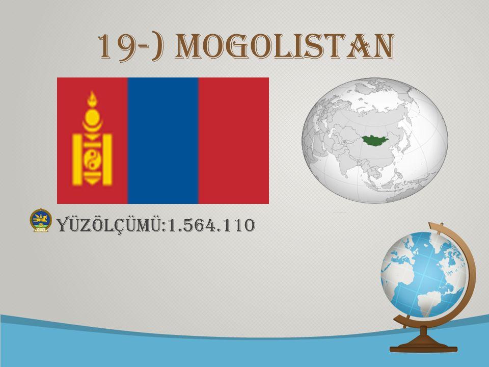 19-) Mogolistan yüzölçümü:1.564.110
