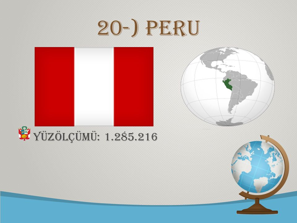 20-) Peru Yüzölçümü: 1.285.216
