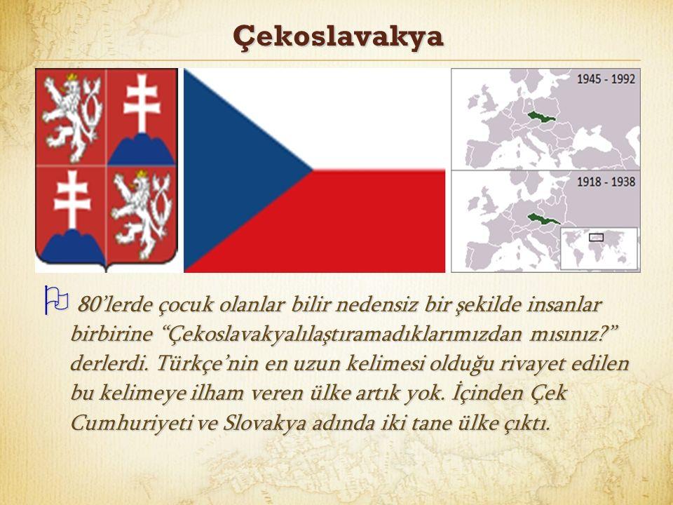 Çekoslavakya