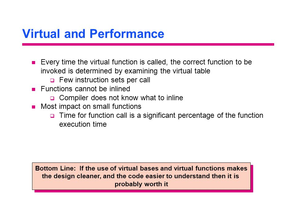 Virtual and Performance