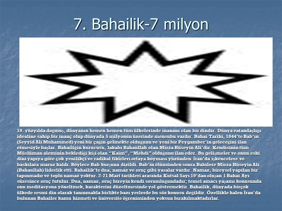 7. Bahailik-7 milyon