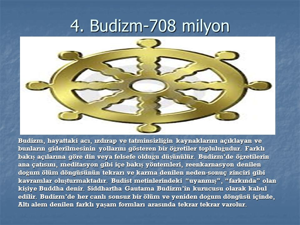 4. Budizm-708 milyon