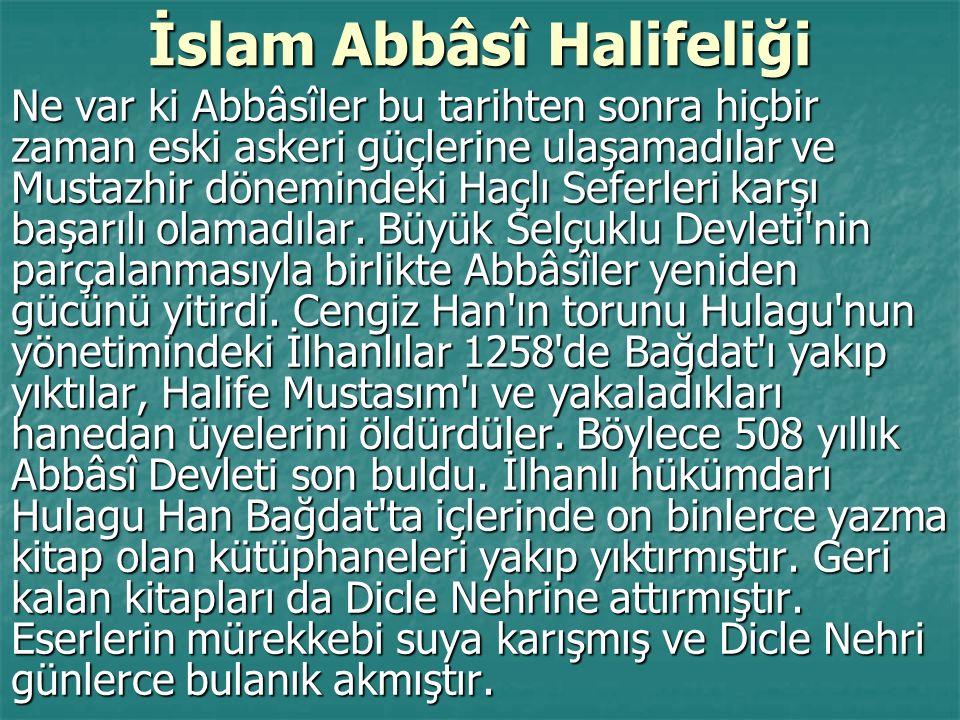 İslam Abbâsî Halifeliği