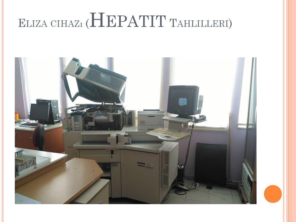 Eliza cihazı (Hepatit Tahlilleri)