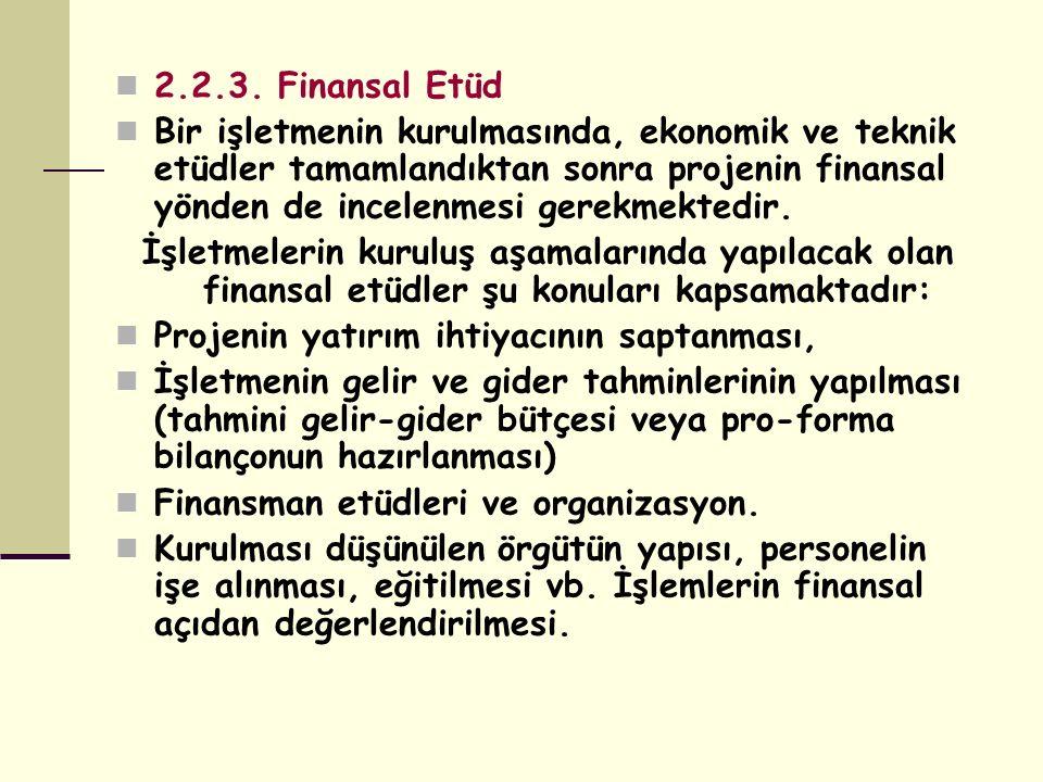 2.2.3. Finansal Etüd