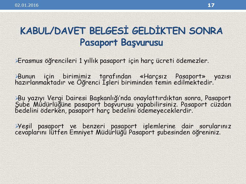 KABUL/DAVET BELGESİ GELDİKTEN SONRA Pasaport Başvurusu