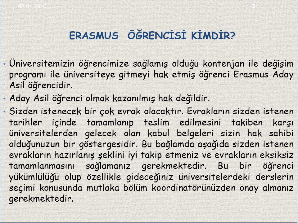 ERASMUS ÖĞRENCİSİ KİMDİR