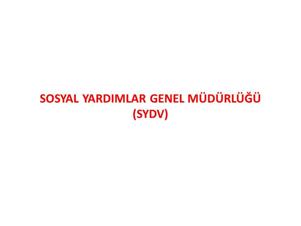 SOSYAL YARDIMLAR GENEL MÜDÜRLÜĞÜ (SYDV)