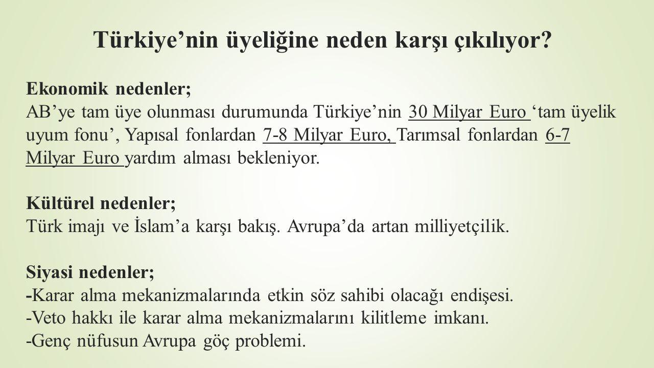 Türkiye'nin üyeliğine neden karşı çıkılıyor