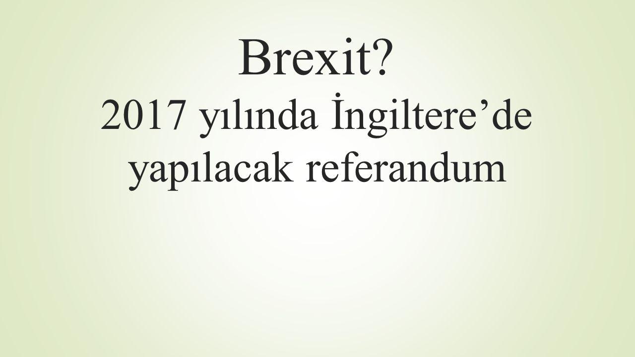 Brexit 2017 yılında İngiltere'de yapılacak referandum