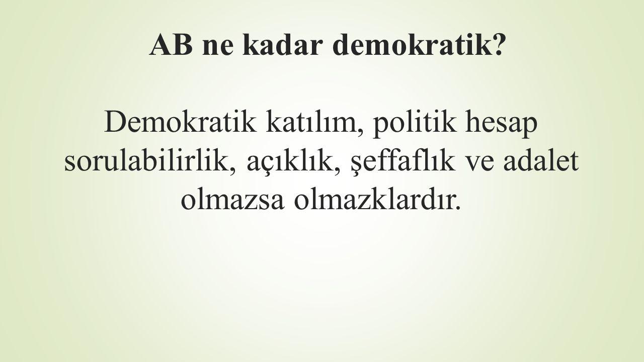 AB ne kadar demokratik.