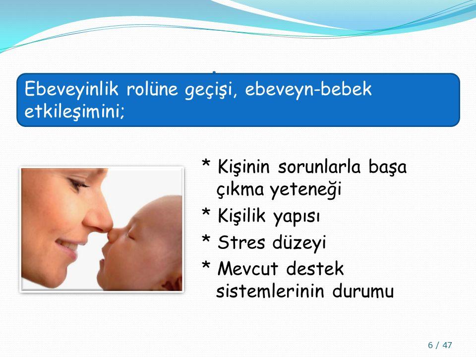 ANNE - BABA ROLLERİ VE ROL ADAPTASYONLARI