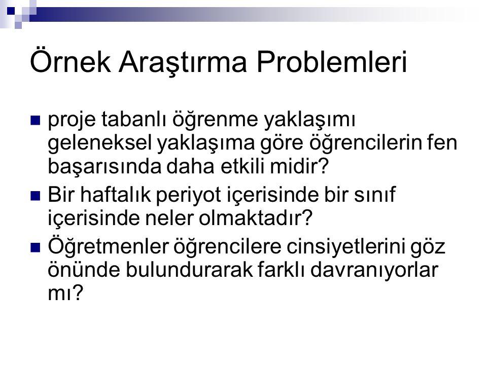 Örnek Araştırma Problemleri