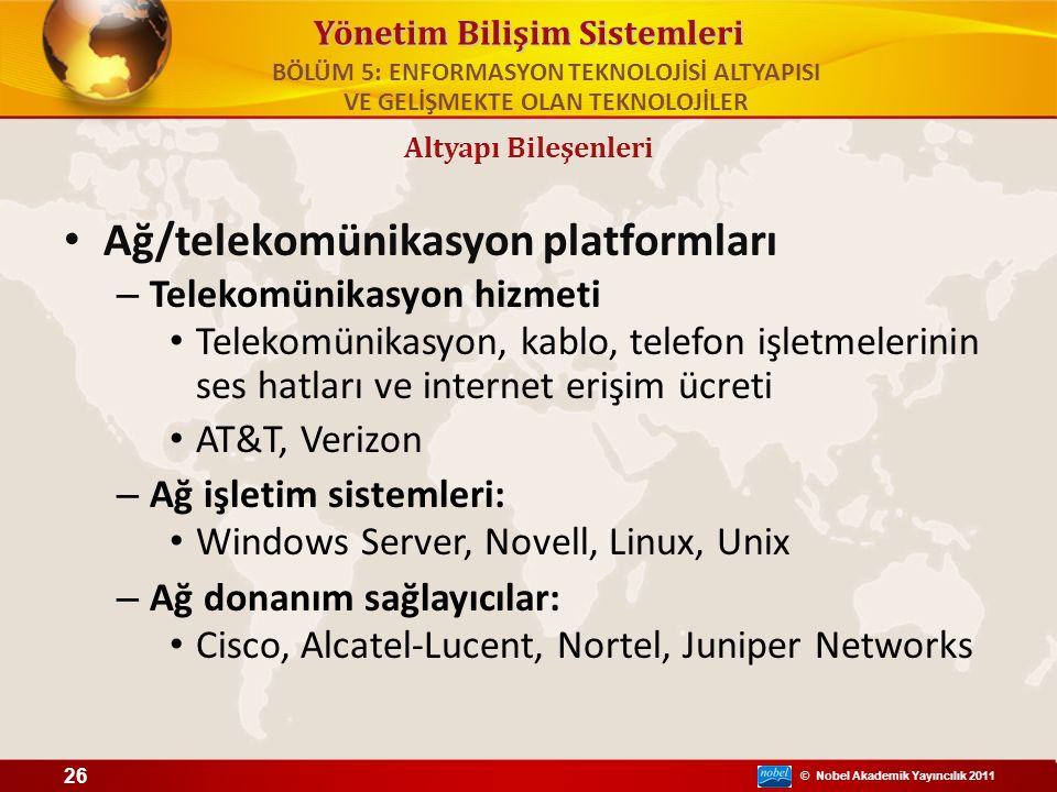 Ağ/telekomünikasyon platformları
