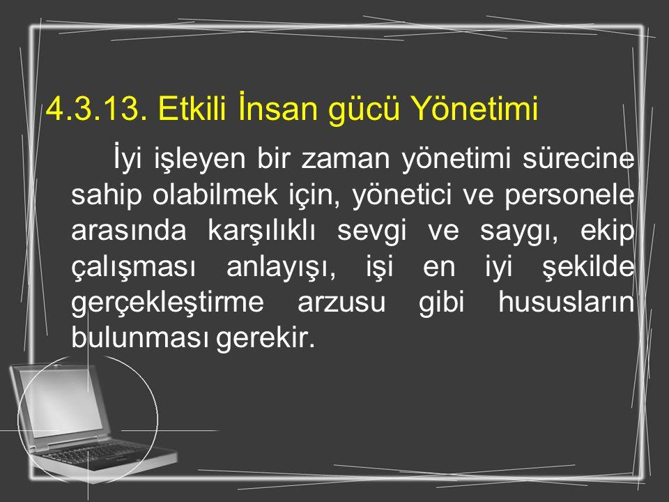 4.3.13. Etkili İnsan gücü Yönetimi