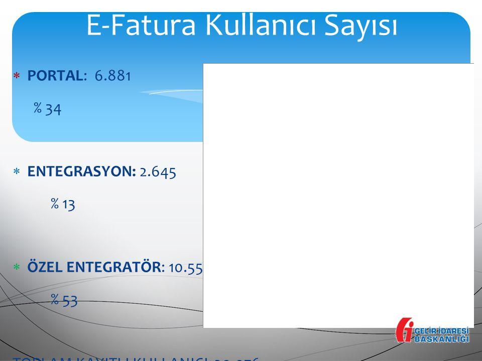 E-Fatura Kullanıcı Sayısı
