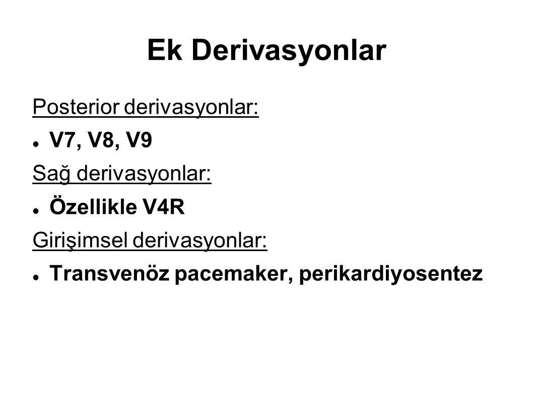 Ek Derivasyonlar Posterior derivasyonlar: V7, V8, V9