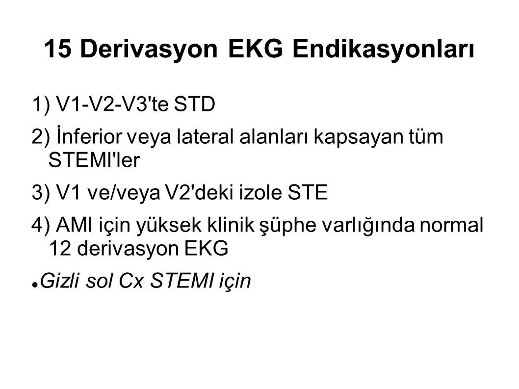 15 Derivasyon EKG Endikasyonları