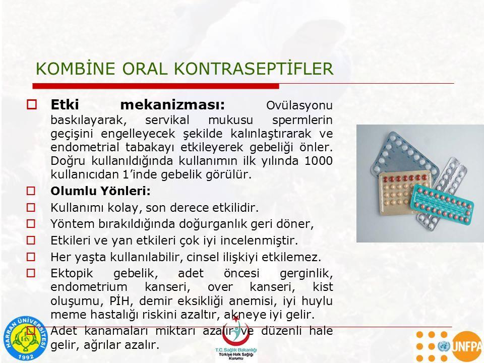 KOMBİNE ORAL KONTRASEPTİFLER