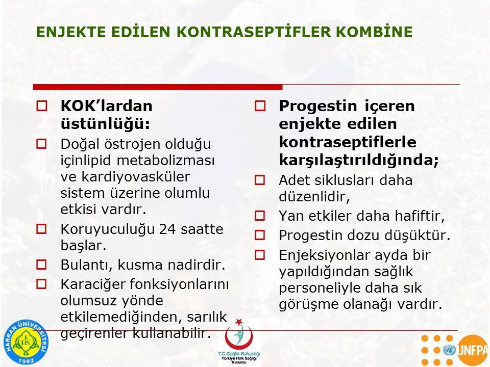 ENJEKTE EDİLEN KONTRASEPTİFLER KOMBİNE