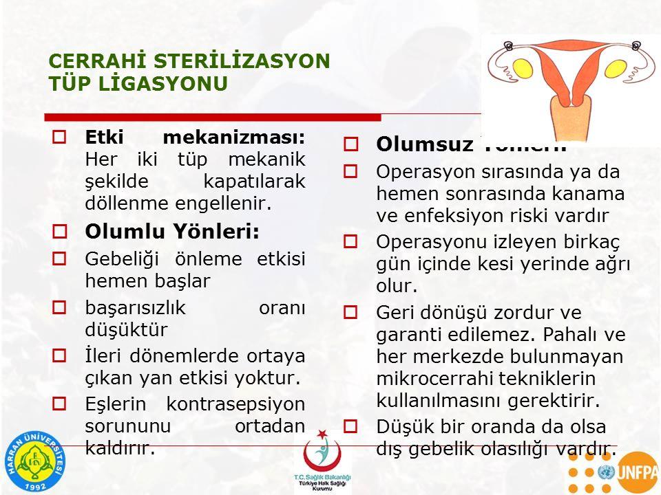 CERRAHİ STERİLİZASYON TÜP LİGASYONU