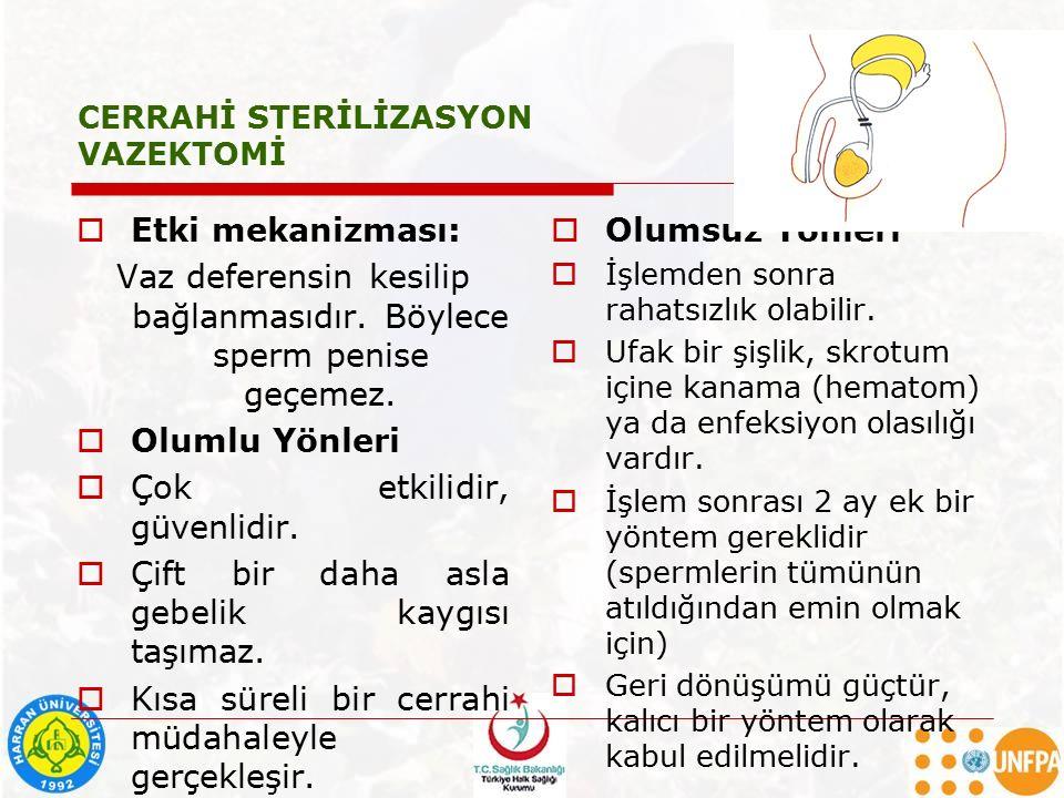 CERRAHİ STERİLİZASYON VAZEKTOMİ