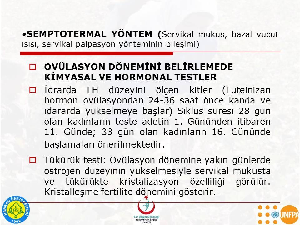 SEMPTOTERMAL YÖNTEM (Servikal mukus, bazal vücut ısısı, servikal palpasyon yönteminin bileşimi)