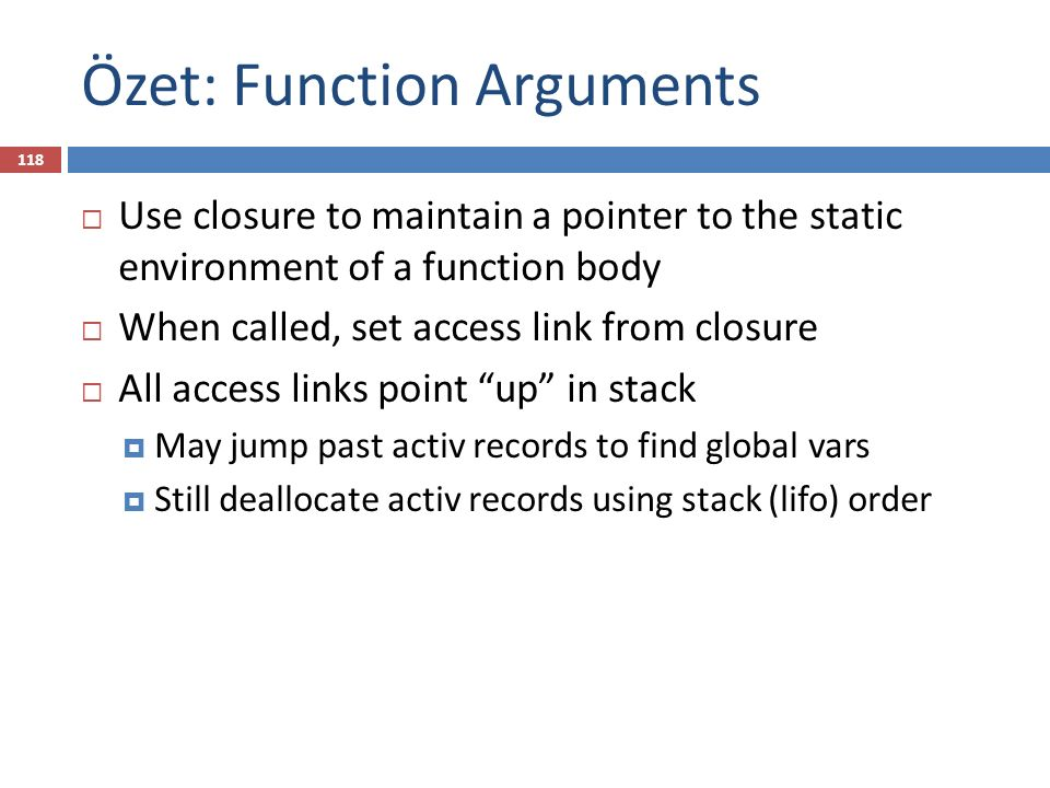 Özet: Function Arguments