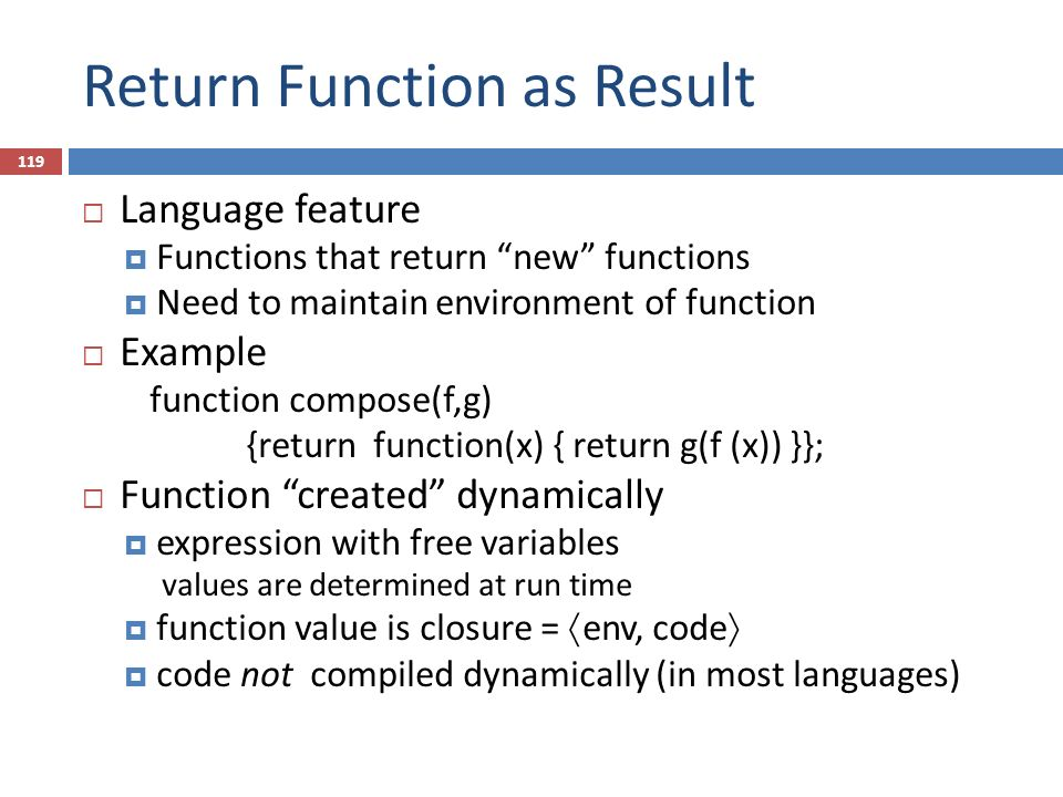 Return Function as Result