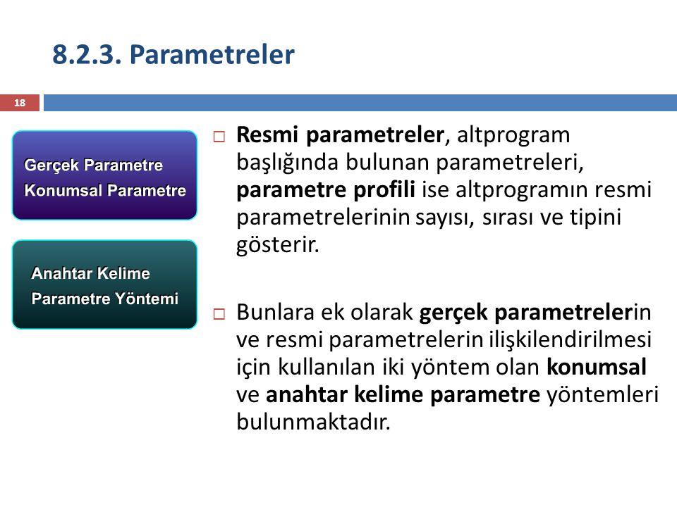 8.2.3. Parametreler