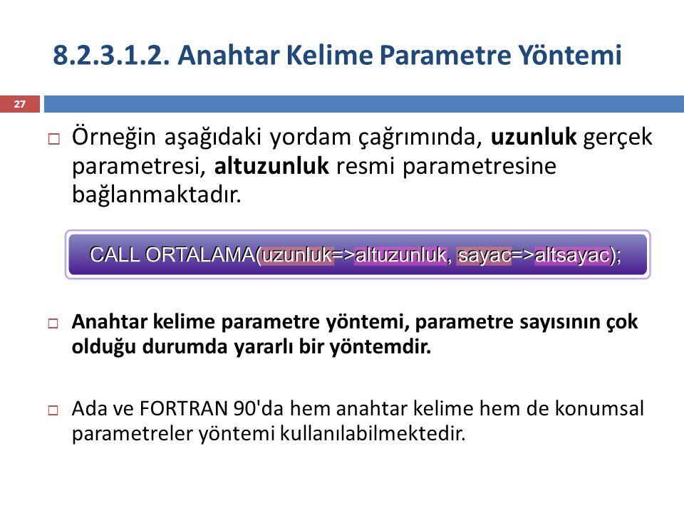 8.2.3.1.2. Anahtar Kelime Parametre Yöntemi