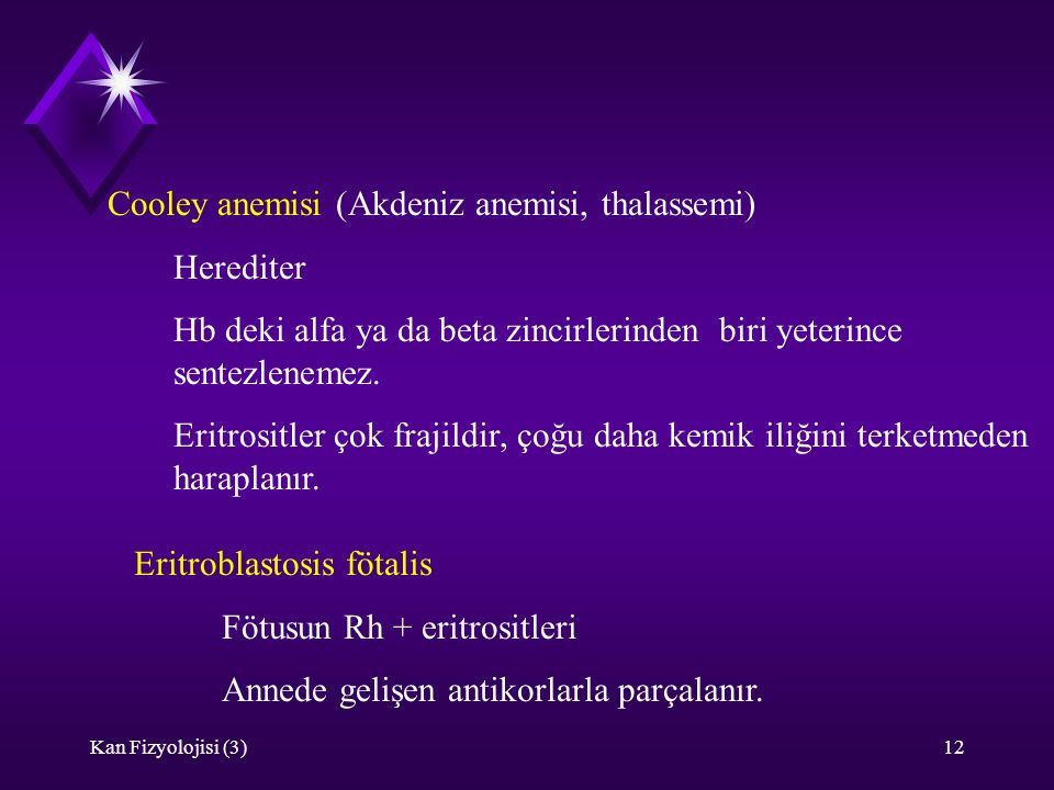 Cooley anemisi (Akdeniz anemisi, thalassemi) Herediter