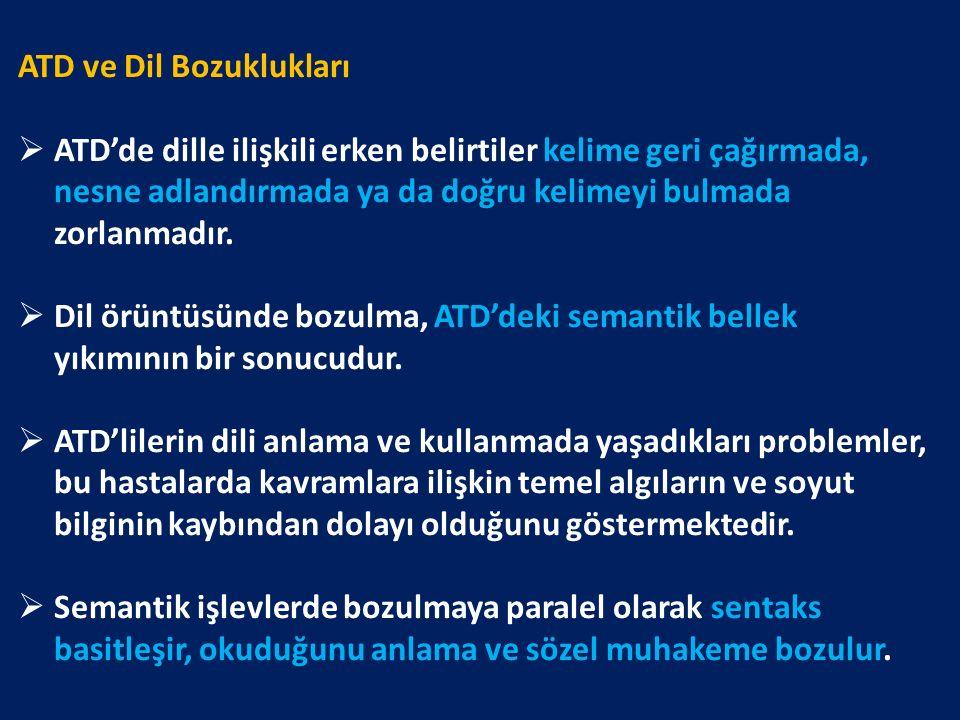 ATD ve Dil Bozuklukları