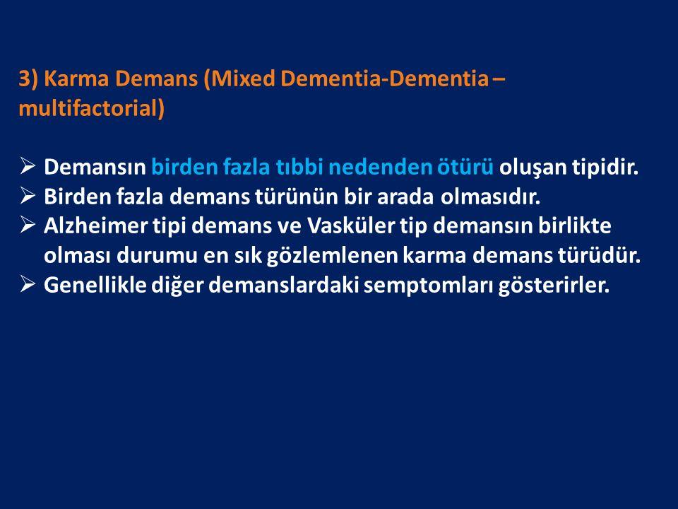 3) Karma Demans (Mixed Dementia-Dementia – multifactorial)