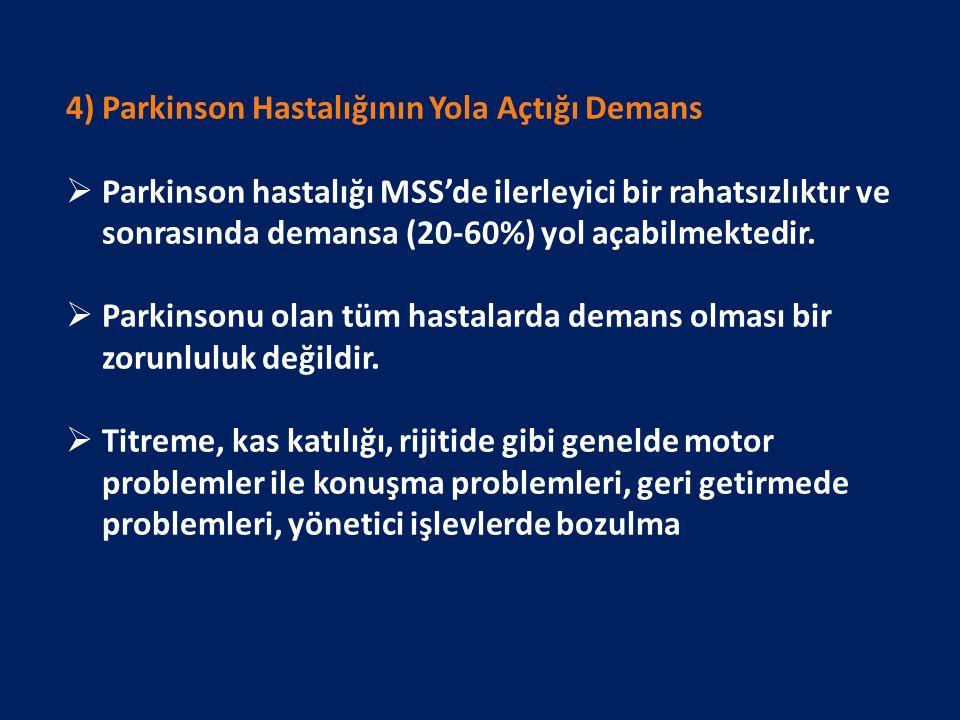 4) Parkinson Hastalığının Yola Açtığı Demans
