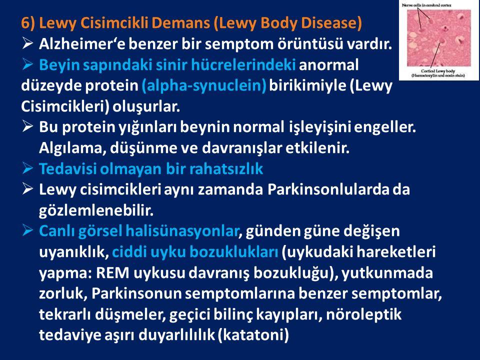 6) Lewy Cisimcikli Demans (Lewy Body Disease)