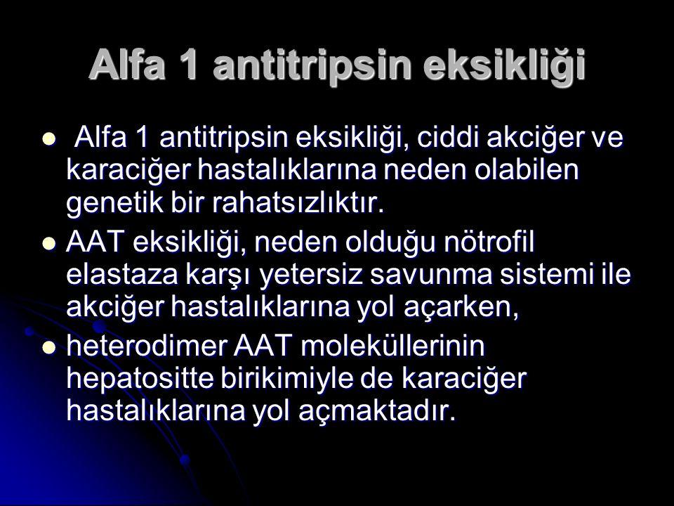 Alfa 1 antitripsin eksikliği