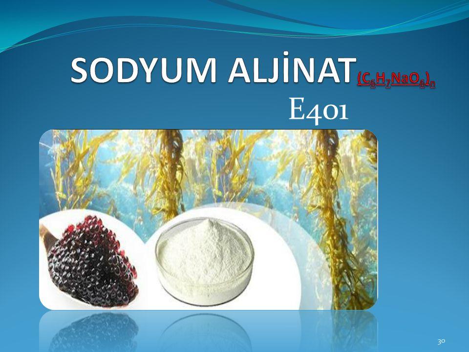 SODYUM ALJİNAT(C6H7NaO6)n