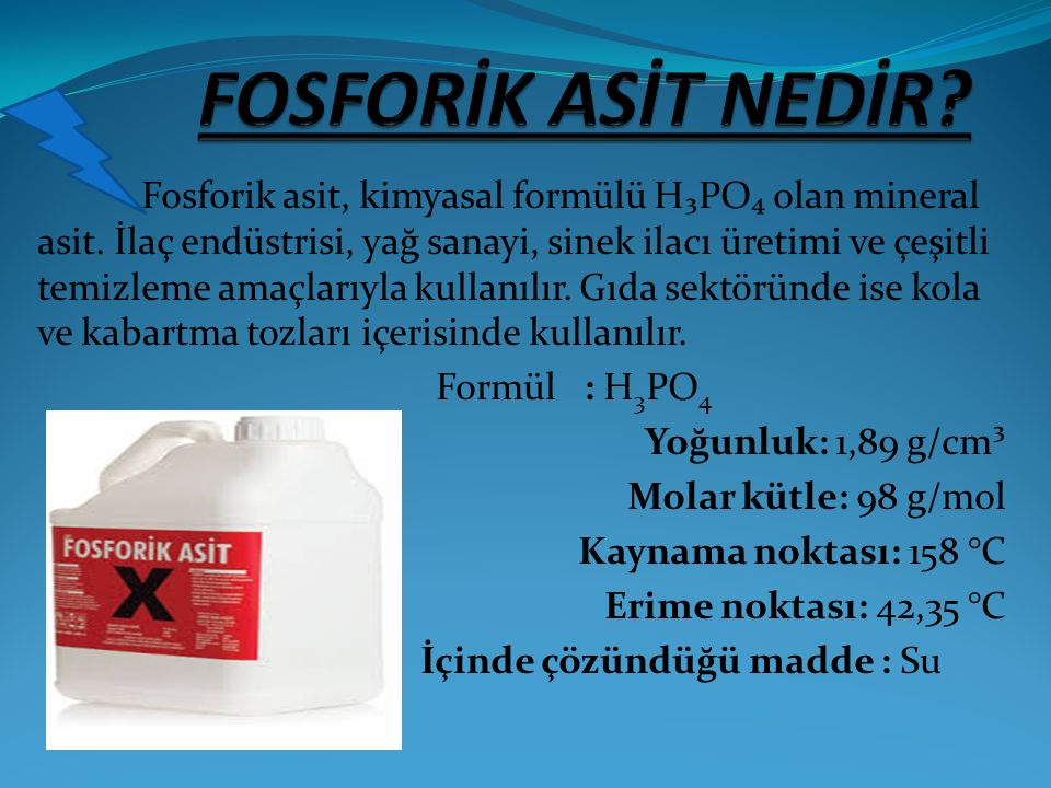 FOSFORİK ASİT NEDİR