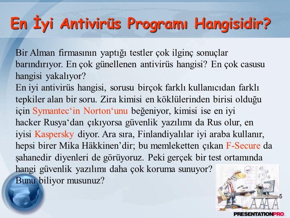 En İyi Antivirüs Programı Hangisidir