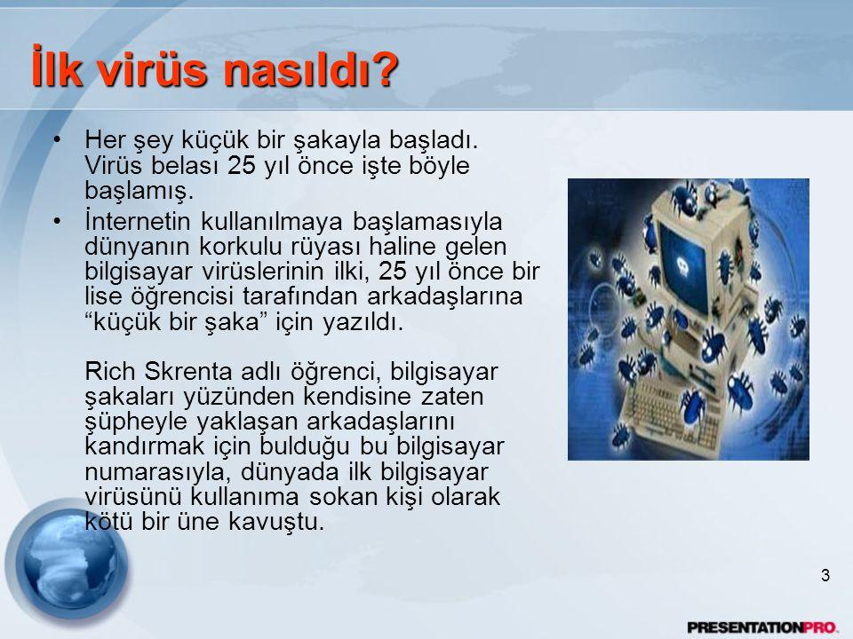 İlk virüs nasıldı Her şey küçük bir şakayla başladı. Virüs belası 25 yıl önce işte böyle başlamış.