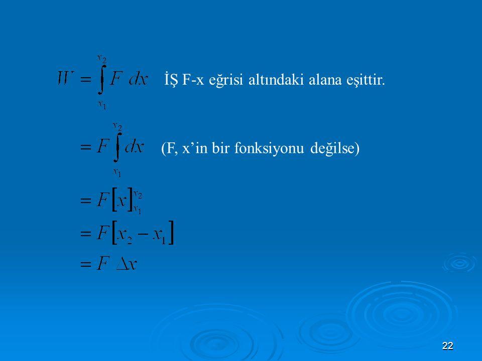 (F, x'in bir fonksiyonu değilse)