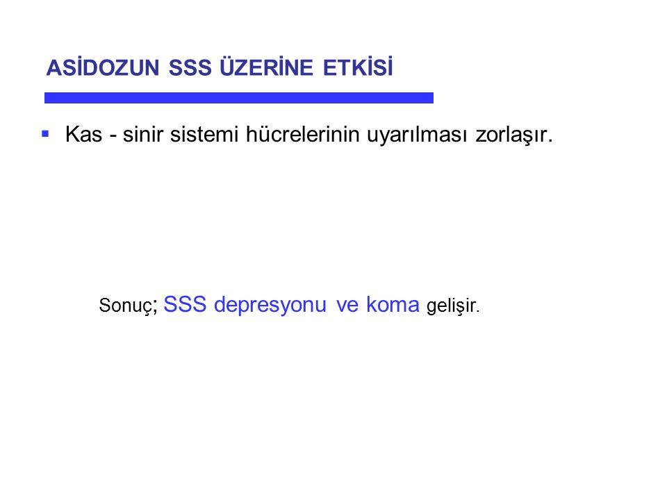 ASİDOZUN SSS ÜZERİNE ETKİSİ