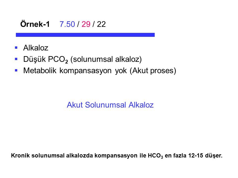 Düşük PCO2 (solunumsal alkaloz)