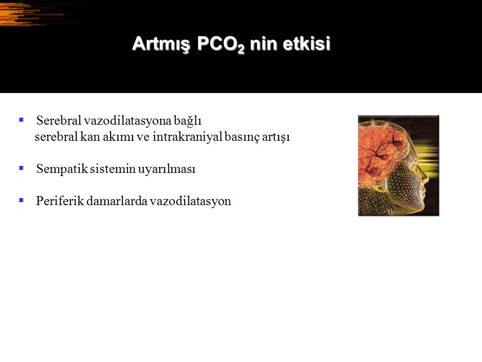 Artmış PCO2 nin etkisi Serebral vazodilatasyona bağlı