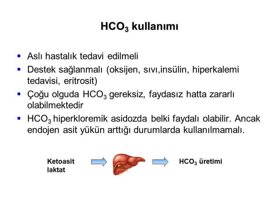 HCO3 kullanımı Aslı hastalık tedavi edilmeli