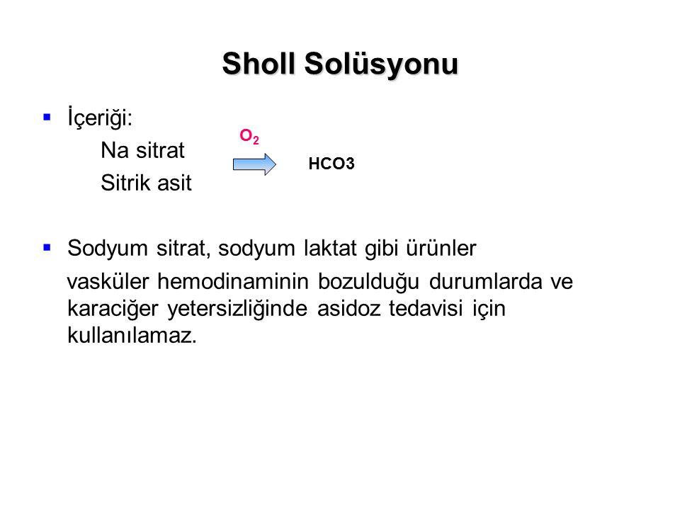 Sholl Solüsyonu İçeriği: Na sitrat Sitrik asit